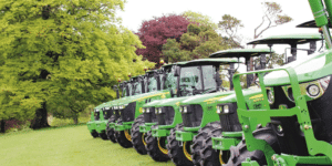 Row of Tractors in the South West